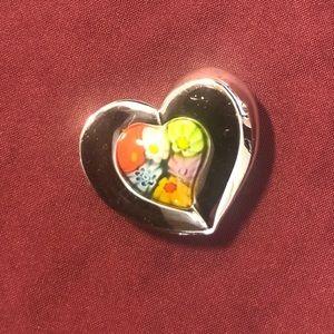 Alan K Multicolor Sterling Silver Pendant